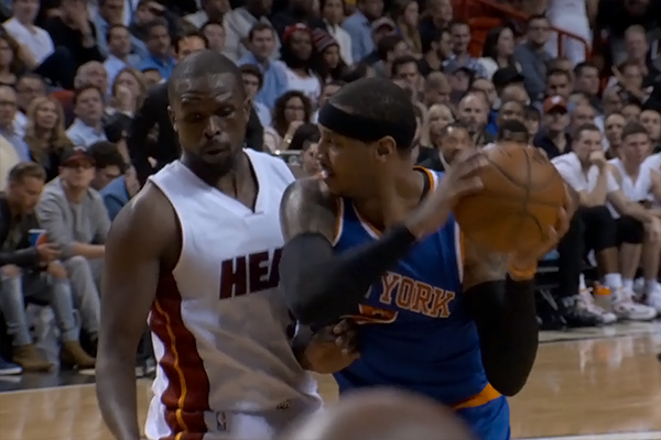 Carmelo Anthony scored 25 points / nyknicks video capture